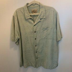 HAVANA JACK'S CAFE silk  button shirt size XL